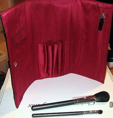 Discontinued LANCOME Ben De Lisi Powder Blush & Eye Brush Set With Brush Pouch • 18.99£