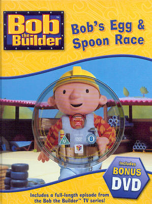 Childrens Bob The Builder Story Book & Dvd: Bob's Egg And Spoon Race: Ideal Gift • 4.99£