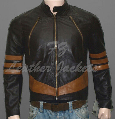 £68.01 • Buy X-Men Wolverine Logans XO Real Leather Jacket - ALL SIZES AVAILABLE