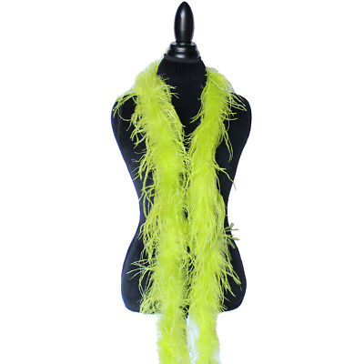 £28.39 • Buy Chartreuse Green 1ply Ostrich Feather Boa Scarf Prom Halloween Costumes Dance