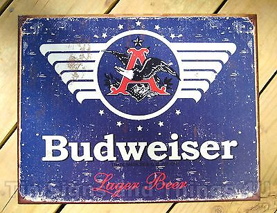 $ CDN15.18 • Buy Budweiser 1936 Logo TIN SIGN Beer Bar Lager Rustic Vtg Metal Wall Decor Ad 1383