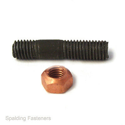 £2.49 • Buy M10 X 46mm Exhaust Manifold Stud With Copper All Metal Nut Ford (S44)