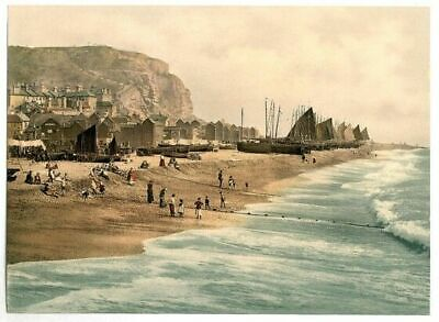 £11.99 • Buy Hastings 2 Seaside Scenes Print Poster A4 A3 A2 A1