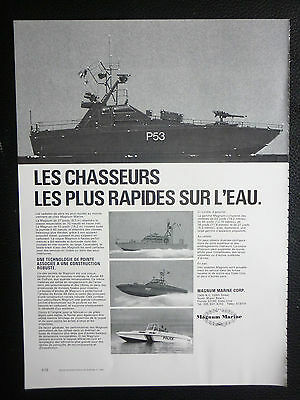 $11.79 • Buy 4/1980 Pub Magnum Marine Miami Vedettes Rapides Navy Naval Forces French Ad