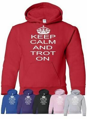 Keep Calm And Trot On Horse Riding Mens Ladies Hoodie Hoody Size S-XXL • 17.99£