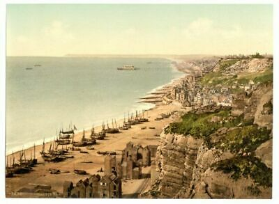 £4.99 • Buy Hastings From The East Cliff ENG Photochrome EPC514 Art Print A4 A3 A2 A1