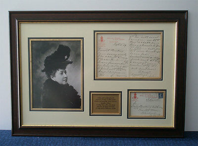 £295 • Buy Queen Victoria's Daughter Helena Signed Letter Montage,AFTAL Approved