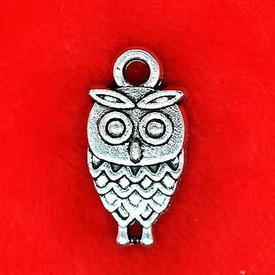10 X Wise Owl Harry Potter Bird Tibetan Silver Charms Pendants Beads • 1.99£