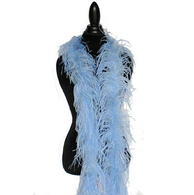 £37.86 • Buy Light Blue 2ply Ostrich Feather Boa Scarf Prom Halloween Costumes Dance Decor