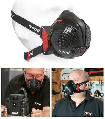 TREND P3 Filter Air Stealth Safety Dust Respirator Half Face Mask Medium/Large • 23.95£