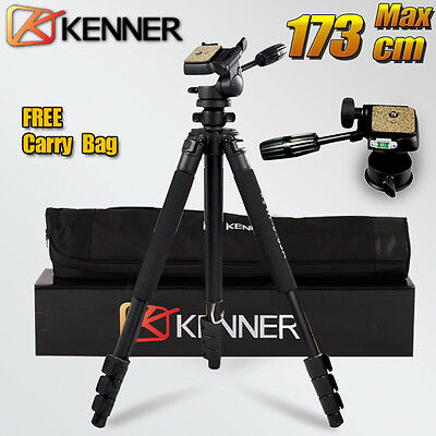 AU69.95 • Buy Professional Tripod For Digital Camera DSLR Camcorder Sony Nikon Canon