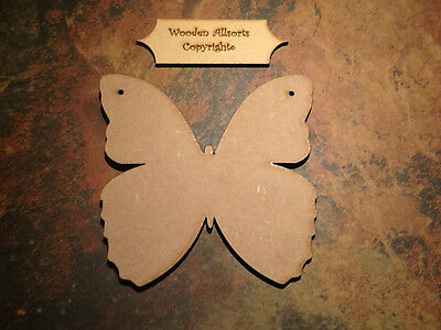 3x Large Wooden MDF Butterfly Shapes With Holes. 150x150mm Craft Shapes • 3.99£