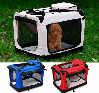 £29.99 • Buy Pet Dog Cat Fabric Soft Portable Crate Kennel Cage Carrier House Bag 3 Colour