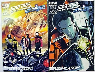 IDW STAR TREK TNG / DOCTOR WHO # 4 COMIC Covers A And B ~ 1ST Print DR NEXT GEN  • 8.68£