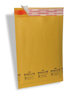 $89.95 • Buy 500 #0 6.5X10   Ecolite   X- Wide Kraft Bubble Mailers Padded Envelopes Bags