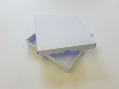 £12.18 • Buy 10  8 X8  Greeting Card Boxes, Gift Boxes White Boxboard. Free Delivery