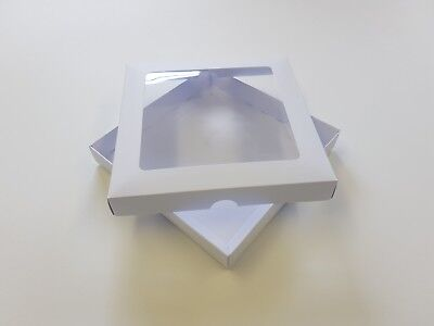 6x6 White Greeting Card Boxes, With Aperture Lid, Gift Free Delivery. Choose Qty • 9.92£