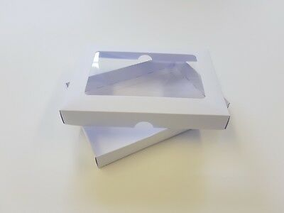 A5 White Greeting Card Boxes, With Aperture Lid, Gift, Free Delivery. Choose Qty • 7.72£