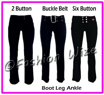 £9.99 • Buy Girls Black Grey Navy School Trousers Sizes 4-16 Miss Sexies Miss Chief Bootcut