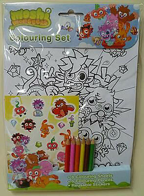 £2.99 • Buy Moshi Monsters Colouring Set With Pencils, Stickers, Ideal Gift