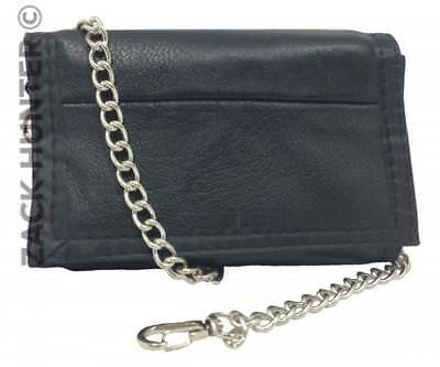 $ CDN8.56 • Buy New Mens Leather Wallet Trifold Bikers Sports Wallet With Belt Key Chain