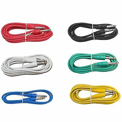 $ CDN21.25 • Buy 6Pack 3ft Foot Mono 1/4 To Guitar Effects Pedal PA DJ Multicolor Patch Cables