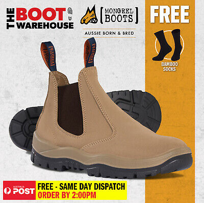 AU107.95 • Buy Mongrel 240040, Work Boots. Steel Toe Safety. Wheat. Elastic Sided. Brand New!