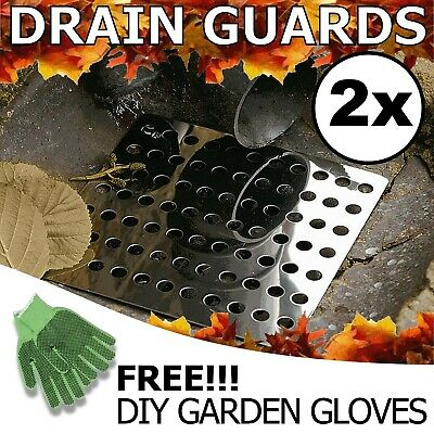 £6.90 • Buy Drain Cover Leaf Guards Square 6 Inch 150mm Metal Stainless Steel Plate Grate UK