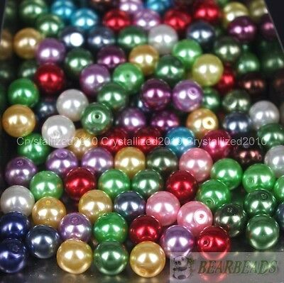 $ CDN2.40 • Buy 100pcs Mixed Czech Glass Pearl Round Loose Spacer Beads 4mm 6mm 8mm 10mm 12mm