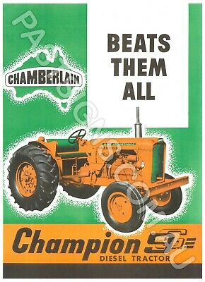 AU29.50 • Buy Chamberlain Champion 9G Tractor  Reproduction Metal Sign VM023