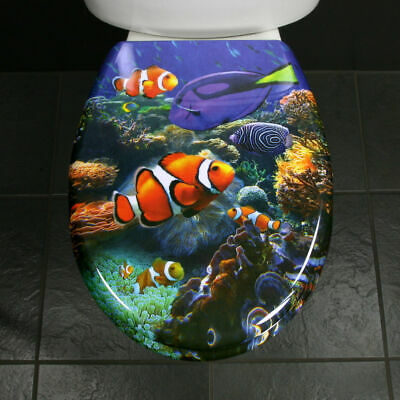 £24.95 • Buy Toilet Seat Novelty Funky Fish Nemo In The Deep Blue Sea Duroplast C/w SS Hinges