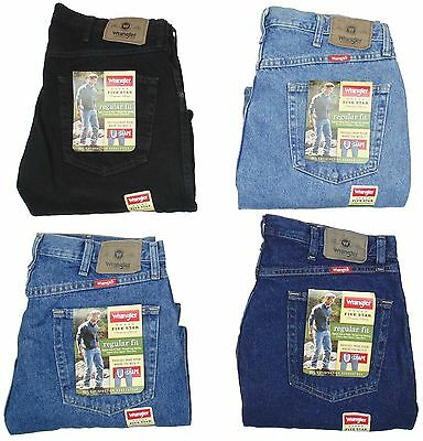 $ CDN27.80 • Buy Wrangler Mens Jeans Five Star Regular Fit Many Sizes Many Colors New With Tags
