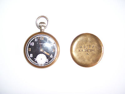 RARE VINTAGE WWII DAMAS MILITARY POCKET WATCH (GC) Cheap Bargain • 99£