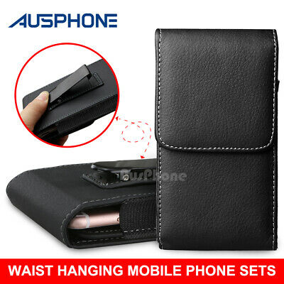 AU7.95 • Buy Leather Case Holster Pouch With Belt Clip For Apple IPhone 8 / 7 / 6s / 6 4.7