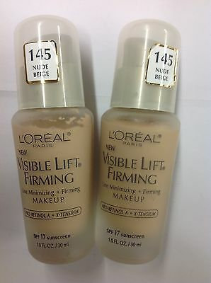 £41.14 • Buy 4 X L'Oreal Visible Lift Firming Foundation SPF17 ( Nude Beige #145 ) NEW.