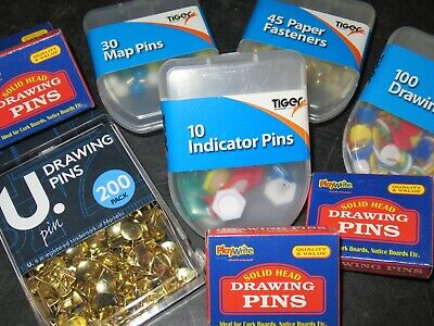 Metal Solid Headed Drawing Pins, Map Indicator, Paper Fasteners +more 660+sold • 1.47£