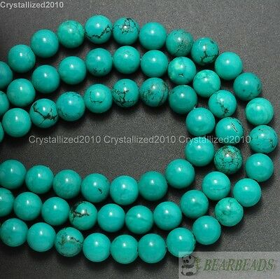 $ CDN5.72 • Buy Natural Turquoise Gemstone Round Spacer Beads 2mm 3mm 4mm 6mm 8mm 10mm 12mm 16