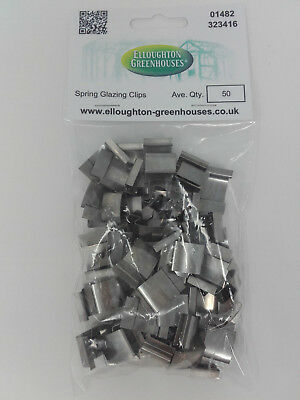 Two Packs X 50 Stainless Steel Spring  G  Greenhouse Band Glazing Clips  • 12.95£