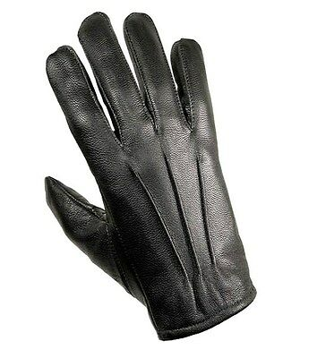 MENS 100% LEATHER GLOVES Gents Genuine Leather Classic Black Driving Glove S-XL • 10.58£