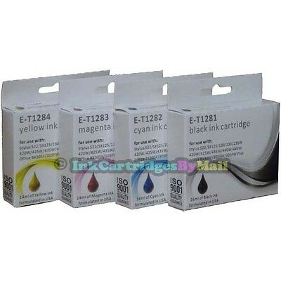 4 HQ Ink Cartridges T1281 T1282 T1283 T1284 (T1285) For EPSON Printers Non-OEM • 6.75£