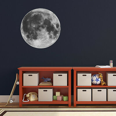 Full Moon Wall Sticker - Astronomy / Space Themed Wall Decal For Child's Bedr... • 10.99£