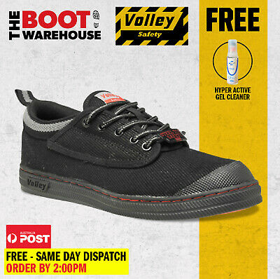 AU50.95 • Buy Dunlop Volley Original Black Classic Work Boots. Safety Steel Toe Cap UK Fitting