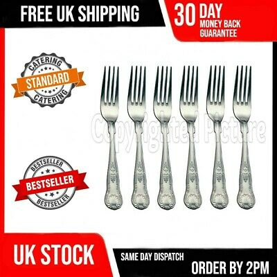 £5.69 • Buy Kings Pattern Dinner Forks Quality Design Set Of 6 Six Large Table Cutlery