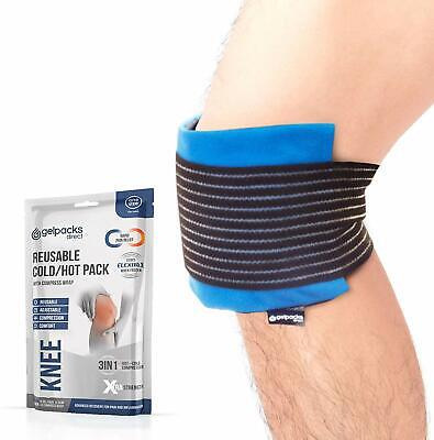 GelpacksDirect Knee Ice Pack Wrap - Reusable Hot Cold Compress Gel For Knee Pain • 11.97£