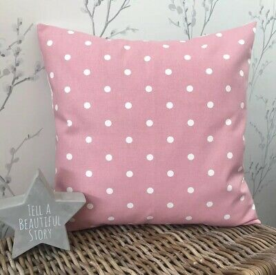 £6.50 • Buy Clarke And Clarke Shabby Chic Pink Spot 16  Cushion Cover