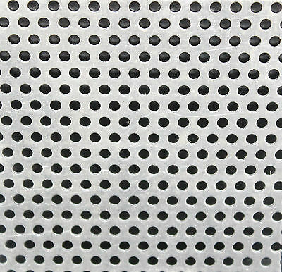 £7.87 • Buy ALUMINIUM PERFORATED SHEET 3 Mm Hole  9 Popular Sizes 300 X 300mm To 600 X 400mm