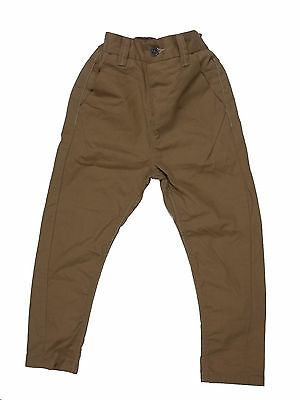 Boy's NEXT Chinos Trousers Skinny Twisted Carrot Fit BNWOT Sand Color • 11.99£