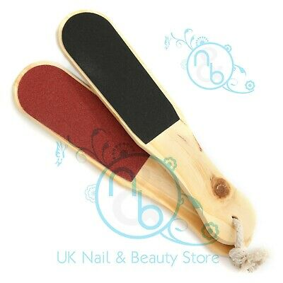 £2.59 • Buy Double Sided Wooden Foot File Callus Rough Hard Skin Remover VARIOUS OPTIONS