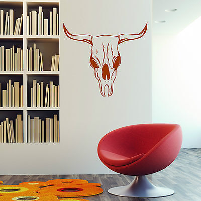 BULL SKULL Vinyl Wall Art Sticker Decal • 7.99£