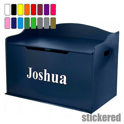 Boys Personalised Name Toy Box Vinyl Sticker Decal For Childens Furniture Chest • 2.95£